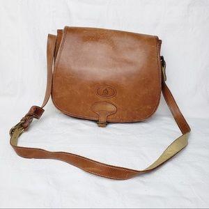 Vintage leather saddle purse